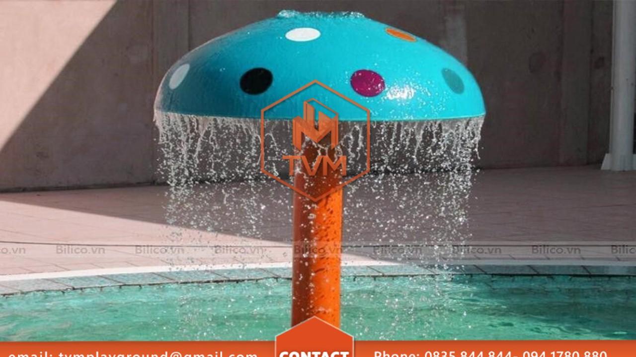 cây nấm phun nước 01